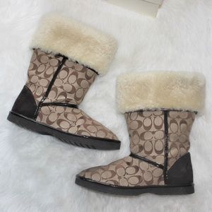 Furr Lined Coach Winter Boots